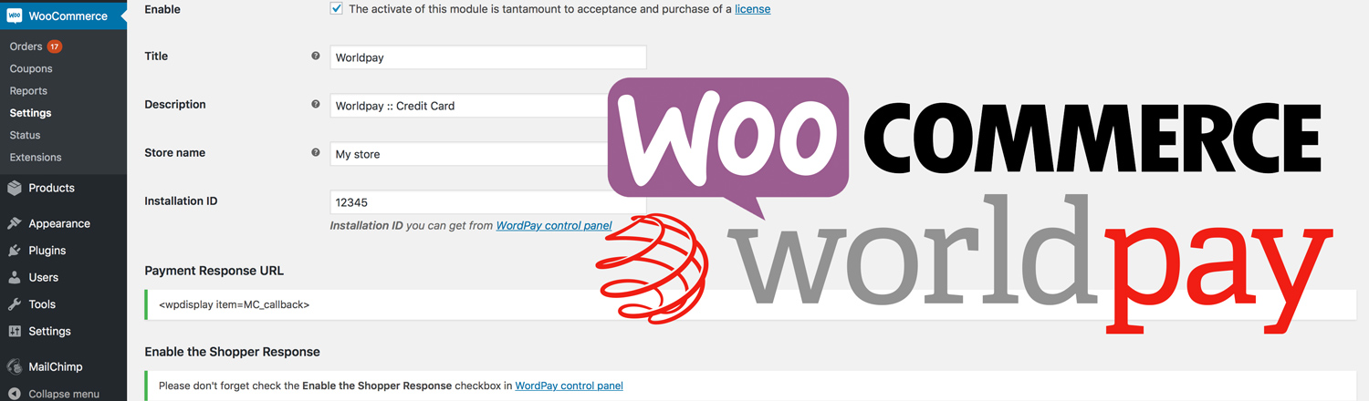 Worldpay WooCommerce